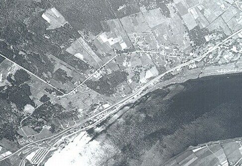 Aerial photo of the Forest Hill district of Fredericton